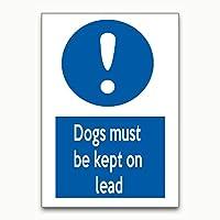 犬はリードを確保しなければならない 金属板ブリキ看板警告サイン注意サイン表示パネル情報サイン金属安全サイン