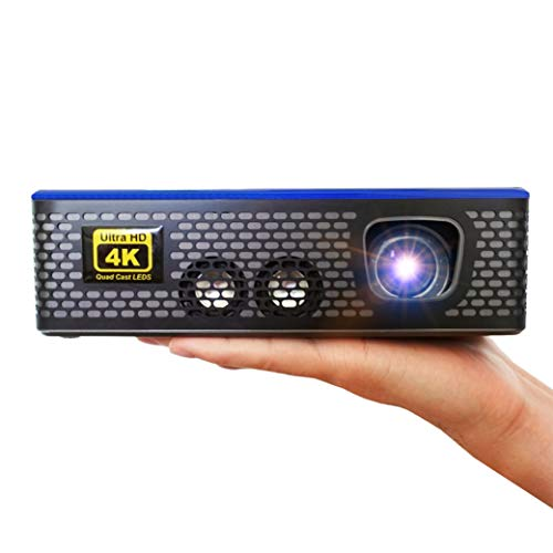 AAXA 4K1 LED Home Theater Projector, 30,000 Hour LEDs, Mercury Free, Native 4K UHD Resolution, Dual HDMI with HDCP 2.2, 1500 Lumens, E-Focus, Portable Size