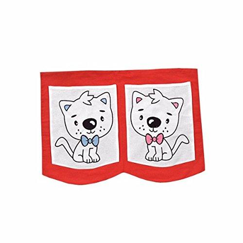XXL Discount Sac de Jeu pour lit d'enfant Rouge/Blanc 40 x 55 cm 100% Coton