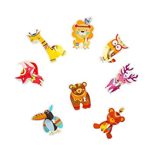 UPKOCH 80pcs Lutscher Karten Super Cute Animal Candy Lollipop Karten Lollipop Klassenzimmer Austausch für Babyparty Hochzeit und Geburtstag Party Dekoration DIY