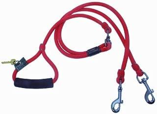 Timberwolf Alpine Rope 2-Dog Lead ~Red~ 5/16