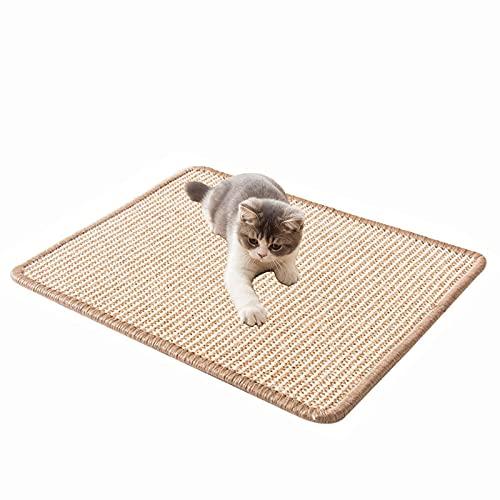 Natürlicher Sisal Katzenkratzmatten, 1 Stück kratzbrett für Katzen, Katzenkratzmatte,Natürliches Sisalmaterial,Krallenpflege Sisalteppich, Geeignet für Fußbodenheizung, Sofa und Boden
