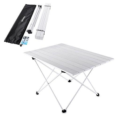 YAHILL® Campingtisch Alu Klapptisch Aluminium ideal Reisetisch Falttisch Gartentisch klappbar Tisch für Camping Outdoor Picknick BBQ Wandern Reise Angeln Urlaub in Tasche tragbar(Größe- XL)