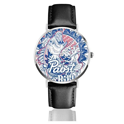 Pabst Blue Ribbon Teens Niños Estudiantes Relojes de Regalo Reloj de Moda Ultrafino