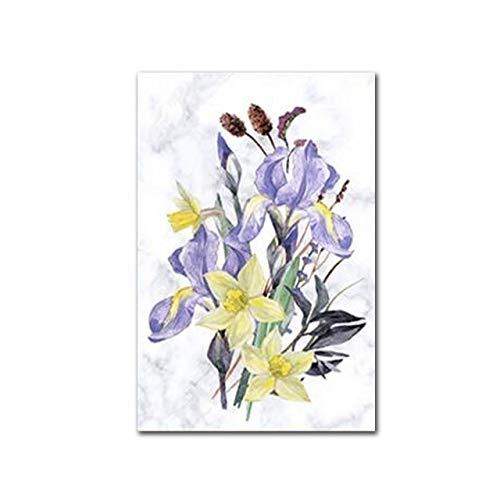 Geiqianjiumai Botanische bloem modern schilderij minimalistisch Nordic kleine poster van fris canvas en foto, voor slaapkamer
