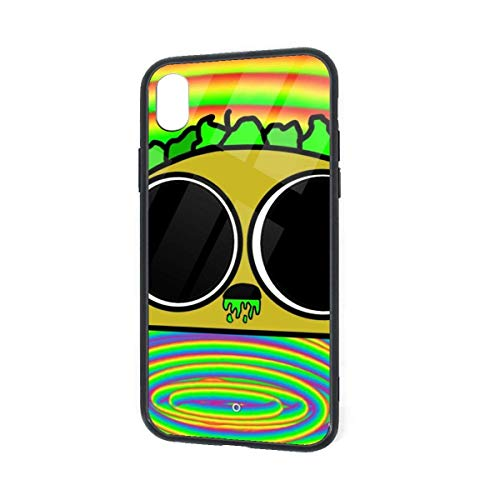 N/A iPhone XR Hoesje Zure Taco Voedsel TPU Ultra-Dunne Slanke Zachte Siliconen Cover Gehard Glas Back Cover Anti-val Bescherming