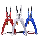 ?A powerful tool for anglers?- Its functions include opening, opening loops, removing hooks, trimming lines, clamping fish, pressing lead, etc. ?Aluminum and Corrosion Resistant?- Fishing Plier is made of Air-Craft Grade aluminum material for a great...