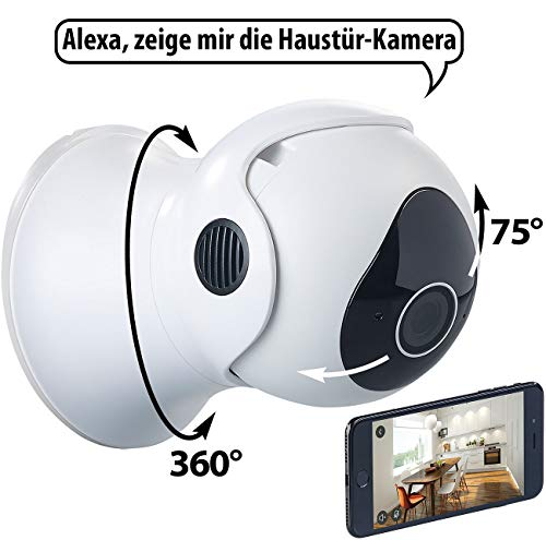 7links Pan Tilt Kamera: Pan-Tilt-IP-Überwachungskamera mit HD, WLAN, App und Nachtsicht, IP65 (Kamera aussen)