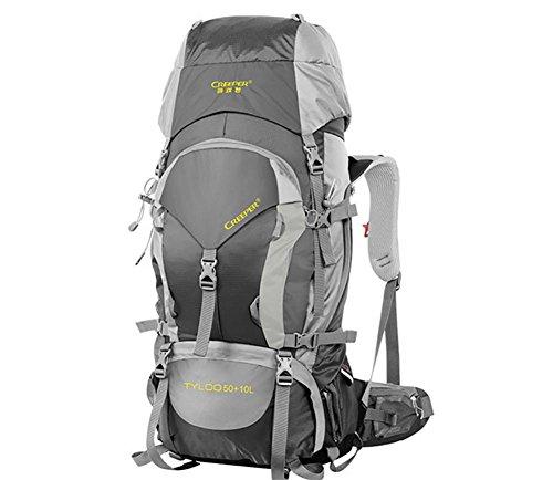 60L randonnées plein air sac à dos Pack sac à dos étanche épaule sacs pour hommes et femmes à pied Pack , black 60 litres
