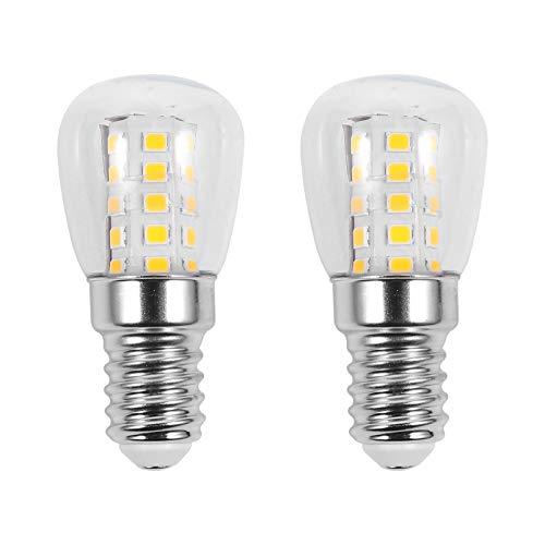 OSALADI 2 lampadine per forno E14 3 W, resistenti alle alte temperature, in vetro trasparente, per forno, frigorifero, microonde