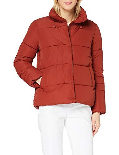 TOM TAILOR Denim Damen Puffer Stehkragenjacke Jacke, 13053-Rust Orange, L