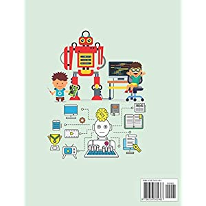 COLORS ON ROBOTS: A children's coloring book, that includes fun and funny pictures of robots, that make the child enjoy…