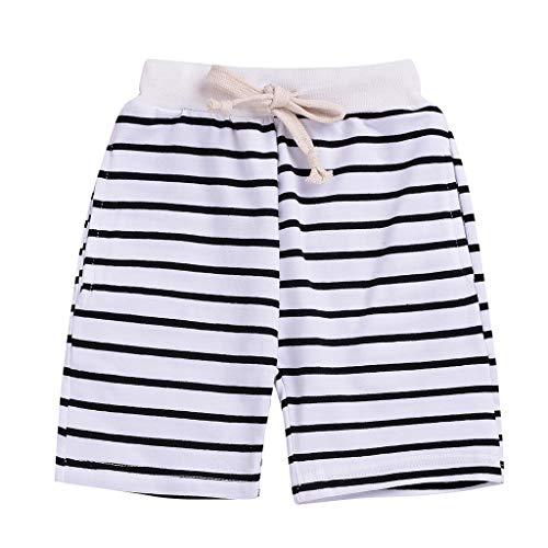 🔥Allence Baby Hosen Kinder Sommer gestreifte Spitze Shorts Strandhose