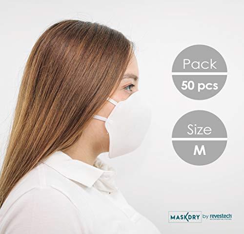 Pack 50, Hygienemasken abwaschbare wiederverwendbare. Größe M