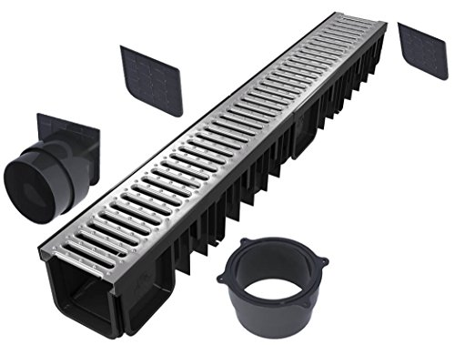 'S'lon Entwässerungsrinne Set 4 Meter | Verzinkt Klasse B125 | Typ 90 (Entwässerungsrinnen)