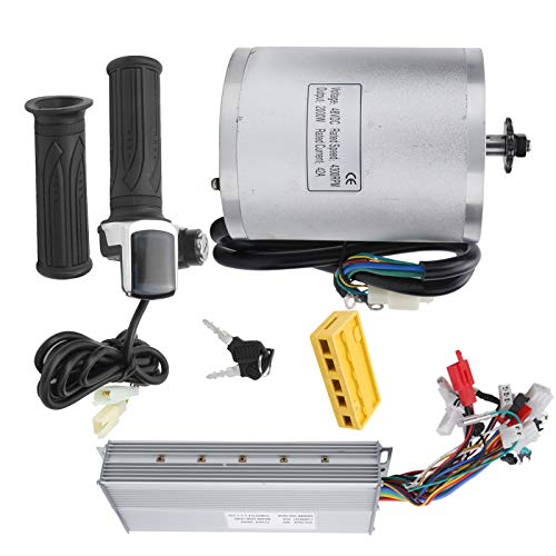 Alomejor Kit Motore EBike Kit di conversione Bicicletta elettrica 48V 2000W con Kit Controller Motore Spazzola elettrica