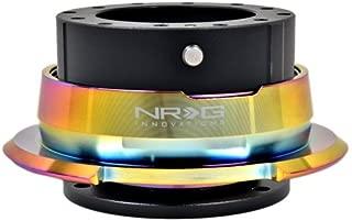 NRG Steering Wheel Quick Release Kit - Gen 2.8 - Black with Diamond Cut Neochrome Ring - Part # SRK-280BK-MC (Black Body)