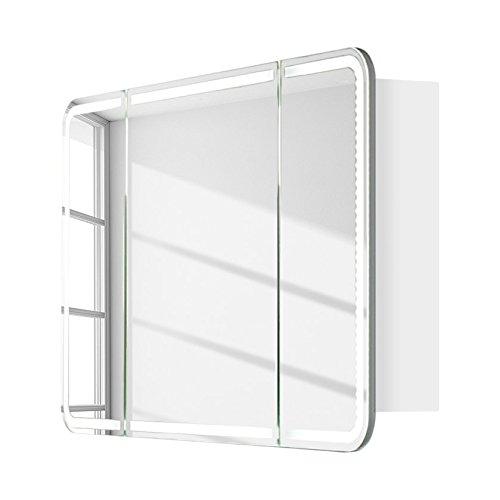 Lanzet Spiegelschrank 80 mit LED-Ring, Pinie