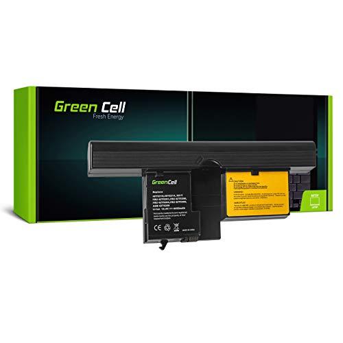 Green Cell Akku für Lenovo IBM ThinkPad Tablet PC 7762 7763 X60 X61 X61s Laptop (4400mAh 14.4V Schwarz)