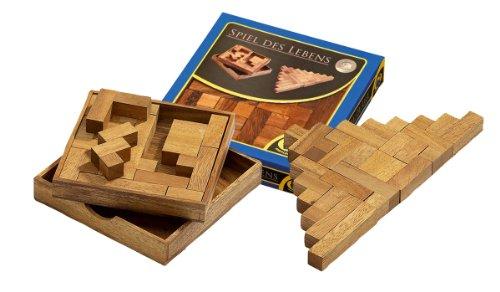 Philos 6215 - Spiel des Lebens, 13 Puzzle Teile, zwei- und dreidimensionales Legespiel, Denk- und Knobelspiel