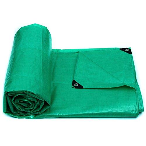 YYHSND Lona Impermeable a Prueba de Lluvia Protector Solar Grueso Impermeable al Aire Libre sombrilla Lienzo Protector de Tela Aislamiento Lona alquitranada (Color : Green, Size : 7x5m)