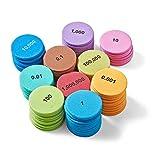 hand2mind Soft Foam Place Value Discs, 10 Values, Math Counters for Kids, Place Value Manipulatives, Kindergarten Homeschool Supplies, Math Manipulatives, Teacher Supplies, (Pack of 875)