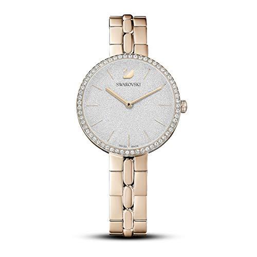 Swarovski Reloj Cosmopolitan, brazalete de metal, tono dorado, PVD tono oro champán