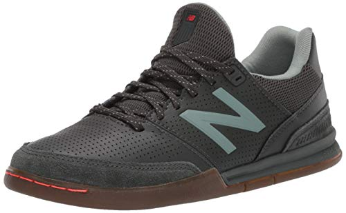 New Balance Men's Audazo V4 Pro Leather Indoor Soccer Shoe, Defense Green/Cedar Quartz, 13 M US