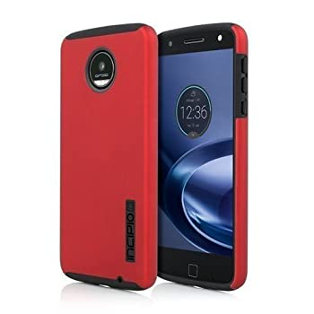 Incipio DualPro Case Cover for Motorola Moto Z Droid Force - Red / Black - Retail Package