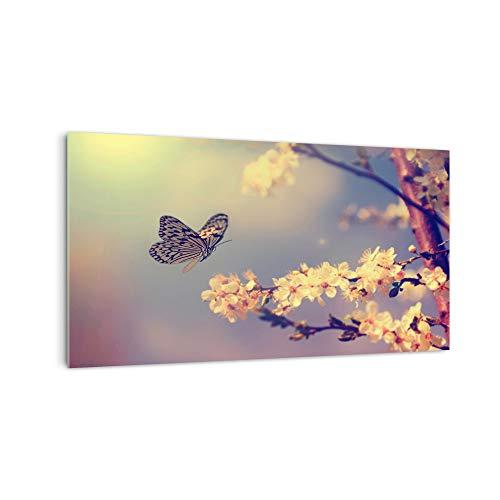 DekoGlas Küchenrückwand \'Bunter Schmetterling\' in div. Größen, Glas-Rückwand, Wandpaneele, Spritzschutz & Fliesenspiegel