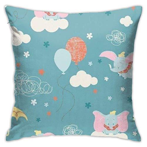 Suzanne Betty Lovely Dumbo - Fundas de cojín decorativas para sofá, 45,7 x 45,7 cm