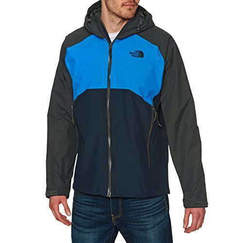 THE NORTH FACE Herren Jacke Herren Stratos HyVent Jacke, Asphalt Grey/Bomber Blue/Urban Navy, XL, T0CMH92VA