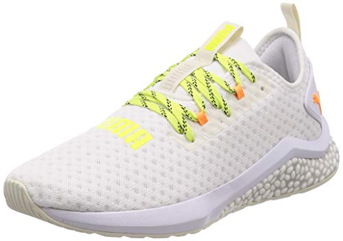 Puma Hybrid NX Daylight, Zapatillas de Running para Hombre, Blanco White-Orange Pop-Fizzy Yellow, 43 EU