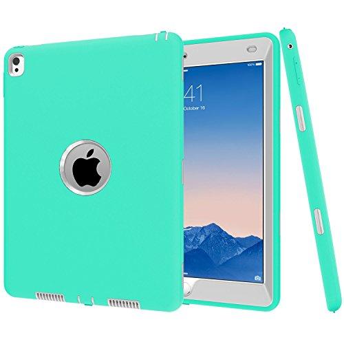 iPad Pro 9.7caso di Betty [full-body Heavy Duty antiurto] 360° di plastica dura copertura, High Impact Resistant Armor Defender custodia per iPad Pro 24,6cm 2016 Mint Gray