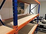 Excel Longspan Estante, 2000mm x 2000mm x 600mm, azul y naranja
