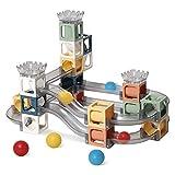 Bloques de construcción magnéticos para niños, 41 Piezas Stem Imán Educativo Juguetes de construcción Juego Pipeline Building Tiles Regalo Creativo para niños de 3 años o más