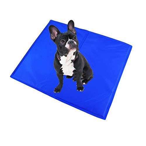 ZLBPET Alfombrilla Refrescante para Mascotas Doméstico Gel Almohadilla para Perros y Gatos Colchón de Verano para Mascotas Cojin para Sofa Cómodo Fresco No Tóxico,Blue,81 * 96CM