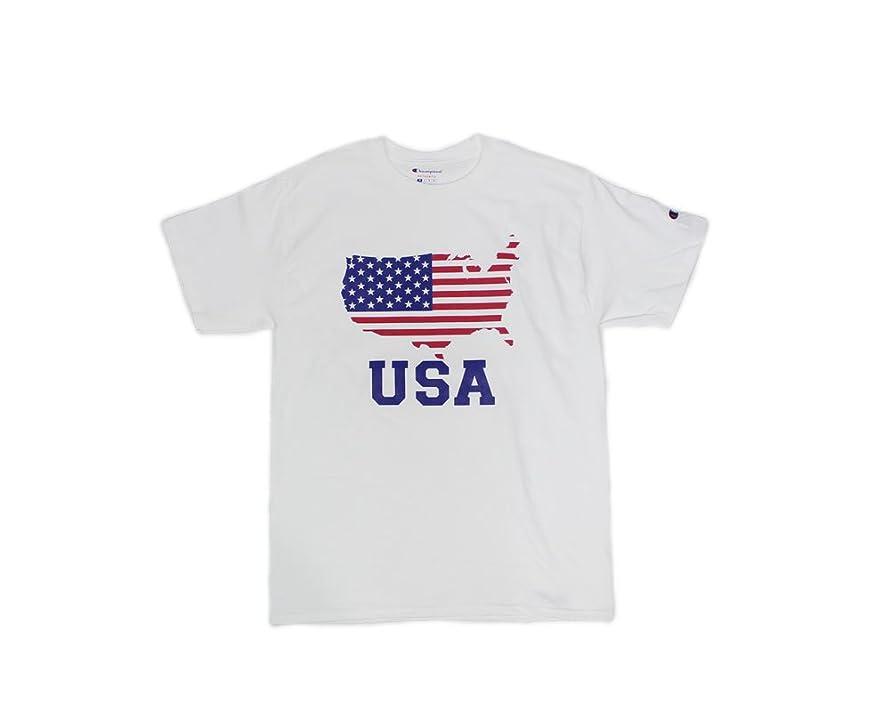 小売軽食しがみつく【Champion/チャンピオン】Flag USA Tee / アメリカンフラッグ USA Tee