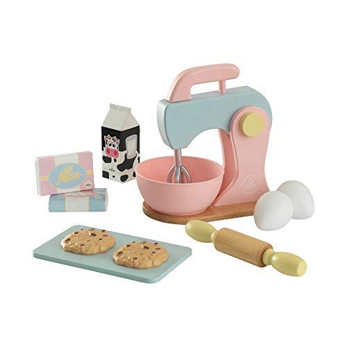 KidKraft - Set de cocina de juguete con batidora y accesorios para repostería, de madera, Color Multicolor (63371) , color/modelo surtido