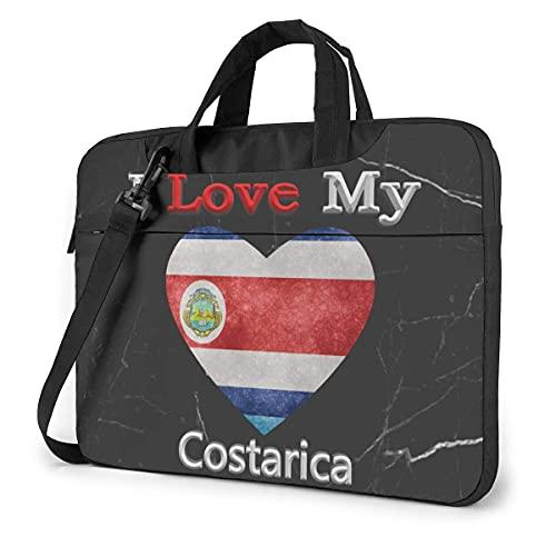 Bolsa De Hombro Para Portátil I Love My Costarica Laptop Bag One Shoulder Bolsa Para Computadora Portátil A Prueba De Golpes