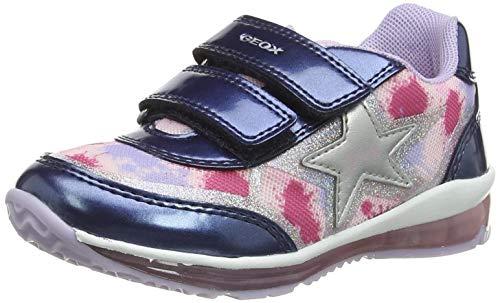 Geox B Todo Girl B, Zapatillas Bebé-Niñas, Avio/Multicolor, 24 EU