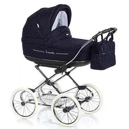 12 teiliges Klassisches Qualitäts-Kinderwagenset 2 in 1 Roan