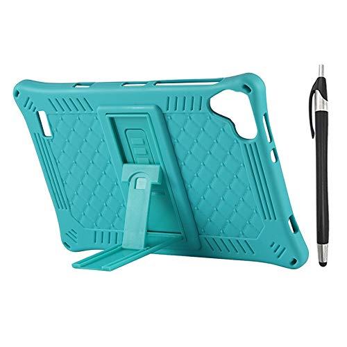 Lopbinte Funda para Tableta para Teclast P80 P80X P80H Funda de Silicona AnticaíDa de Tableta de 8 Pulgadas Soporte de Tableta con LáPiz Capacitivo (Verde)
