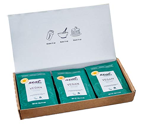 NEAT NUTRITION Vegan Protein Powder 100% Plant Based & Natural Gluten Free Pea Protein Shake 12 Sachets (Vanilla)