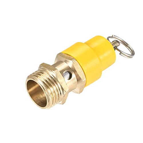 uxcell - Valvola di rilascio per compressore d'aria, a19032500ux0159, 1/2'