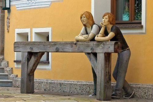 TOPJPG Puzzle 1000 Stück Holzpuzzle Bilderrätsel Skulptur Statue Kunst Persönlich Frauen Erwachsenenbildung Spielzeug Kinderspiele für Kinder