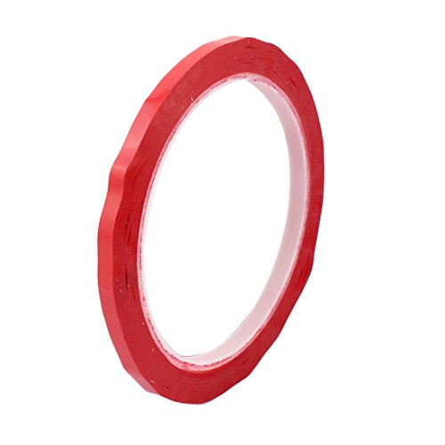 sourcingmap® 5 mm Breite Einseitig starke Selbstklebende Mylar Tape 50 m Länge Rot DE de