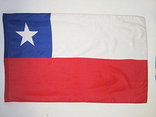 AZ FLAG Flagge Chile 150x90cm - CHILENISCHE Fahne 90 x 150 cm Scheide für Mast - flaggen feiner Polyester