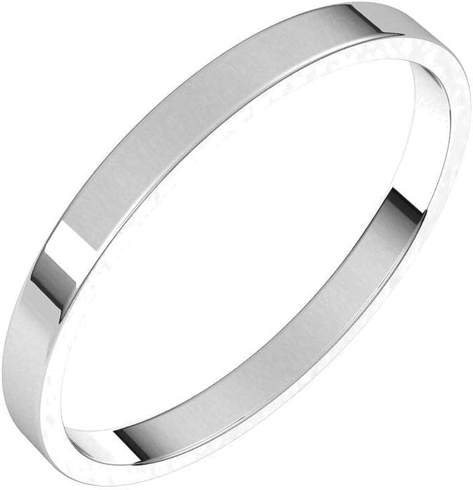 Bonyak Jewelry Continuum Max 69% OFF Virginia Beach Mall Solid Sterling 2mm Flat Silver Ultra-Li