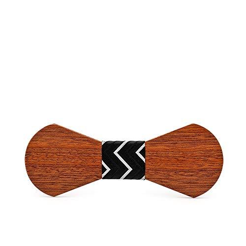 Yiph-Tie Lazo Ocio Caballero Ocio Sector Ocio Corbata de Lazo de Madera Corbata de Madera Estilo de Corbata Más Regalos de Empresa Regalo (Color : A)